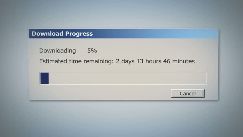 Dialog window with super slow downloading process, low Internet speed, old times   Shutterstock HD Video #21431446
