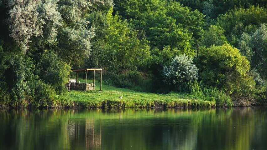Forest lake in central Ukraine. 4K | Shutterstock HD Video #21516883