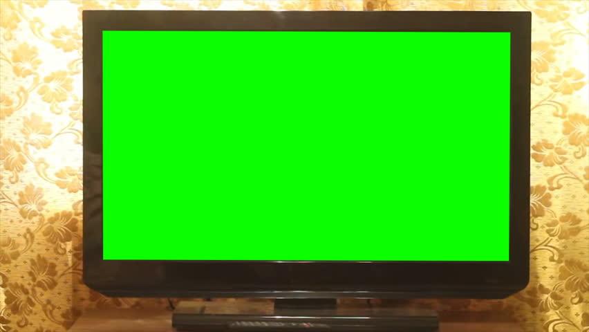 Widescreen HDTV with Green Screen. Home | Shutterstock HD Video #21629734