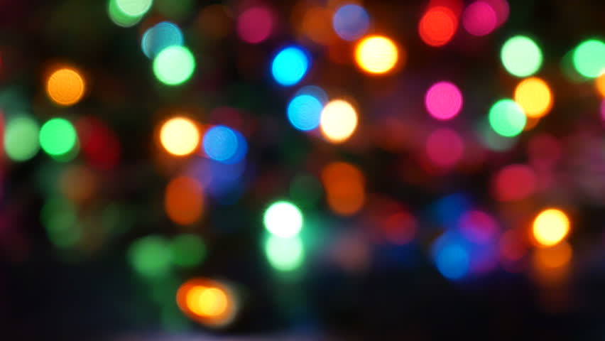 bokeh background on holiday theme with flashing lights