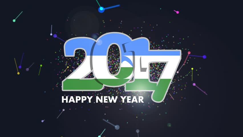 Year 2017 with Kabardino Balkaria Flag pattern. Animation of lettering Happy New Year Design on white background. HD Video | Shutterstock HD Video #21725341