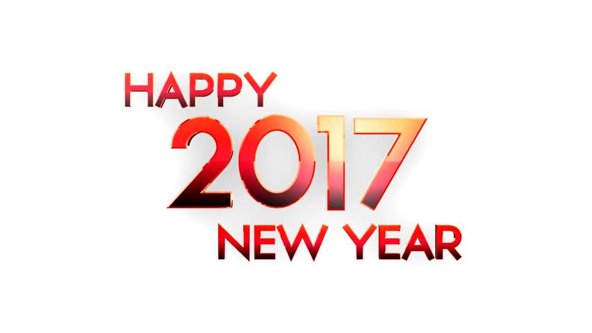Happy new year 2017 written with Sparkle firework   Shutterstock HD Video #21731371
