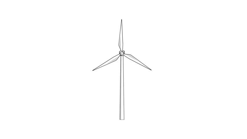 how to draw a giant turbine