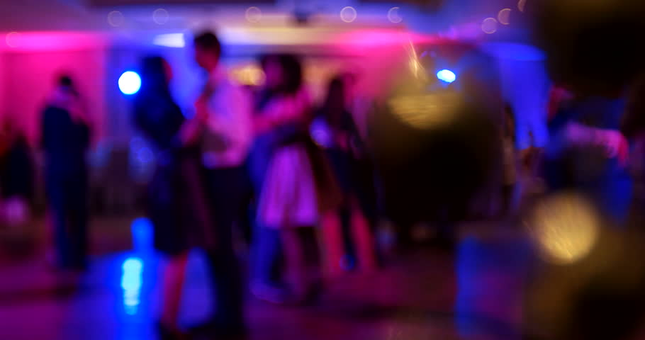 Wedding. Dancing bride and groom, couples and guests. Out of focus clip.   Shutterstock HD Video #21781042