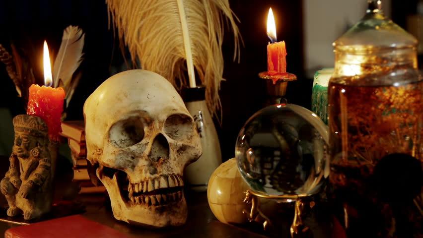 Occult Magic Desk Hd Occult Study Setup Desk With A