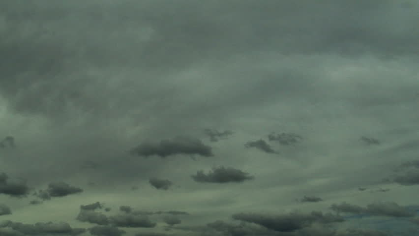 dark clouds time lapse - HD stock footage clip