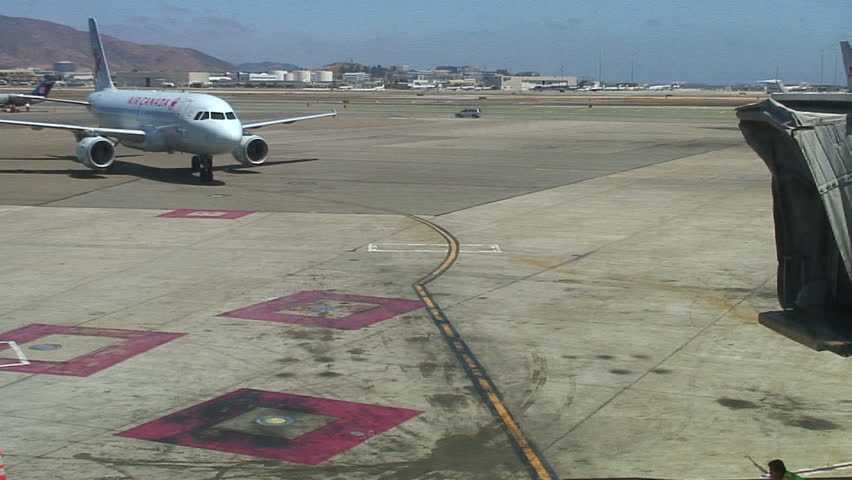 Airplanes on the tarmac.