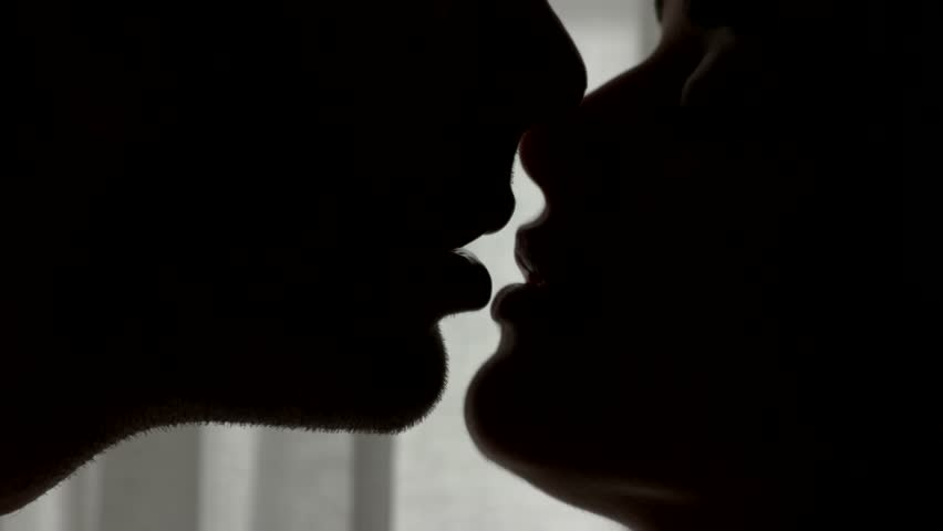 Lips of kissing couple. Faces of woman and man. Addicted to your kisses. Nobody can separate us. | Shutterstock HD Video #21971230