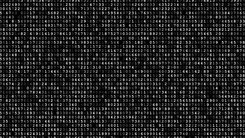 Random numbers - scrolled encrypted data black video background | Shutterstock HD Video #22042906
