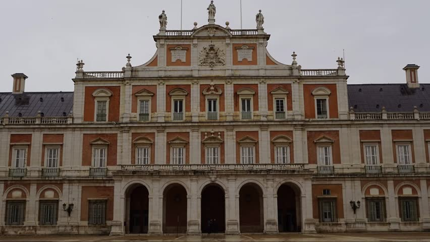 The Royal Palace Of Aranjuez (Spain) Stock Footage Video ...