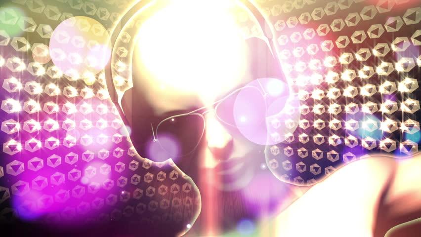 DJ Man with Headphones (Loop Animation)