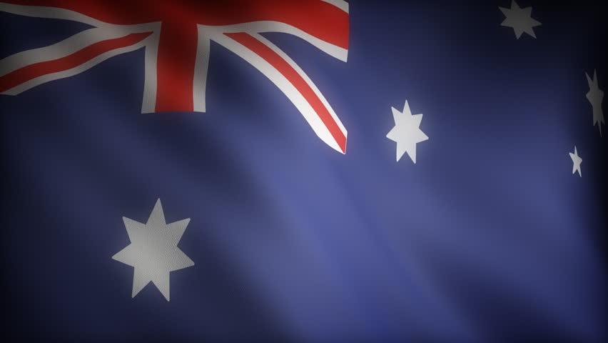 Flag of Australian (seamless) - HD stock video clip