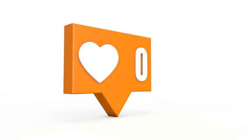 Social media like button. Numbers increase from 0 to 99. 3D rendering | Shutterstock HD Video #22164073
