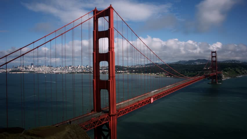 The Golden Gate Bridge in 2010.Timelapse of Golden Gate Bridge, San Francisco, California.