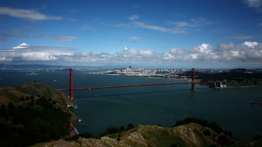 The Golden Gate Bridge in 2010.Timelapse of Golden Gate Bridge, San Francisco, California. - HD stock footage clip