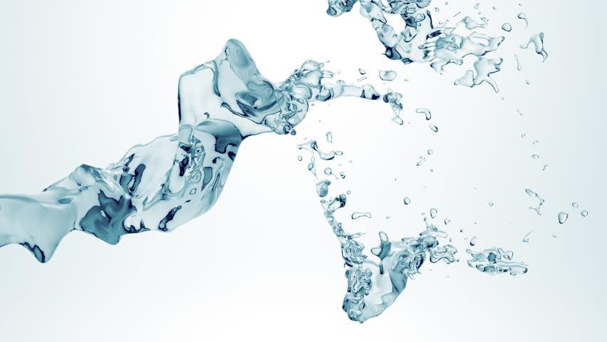 Water flow (cg slow motion water, full hd) - HD stock video clip