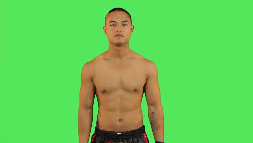 Thai boxer celebrating - HD stock video clip