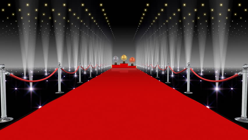 Unrolling Red Carpet Animation And Paparazzi Camera ...