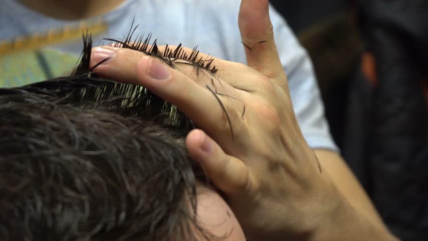 Man getting a haircut by a hairdresser | Shutterstock HD Video #22517908