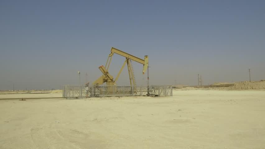 BPU crude oil pump in the oilfield | Shutterstock HD Video #22545169