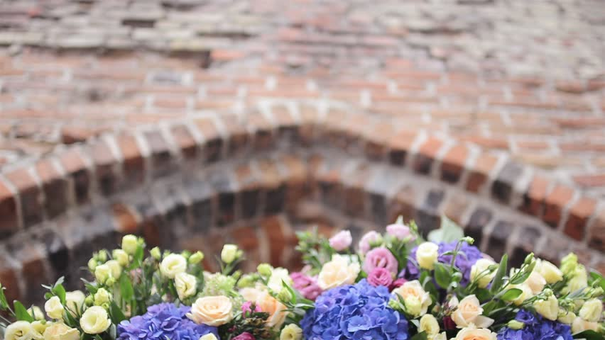 Decorative Arch for the Wedding of Hydrangea and Roses which Decorated by Professional Florists.   | Shutterstock HD Video #22607278
