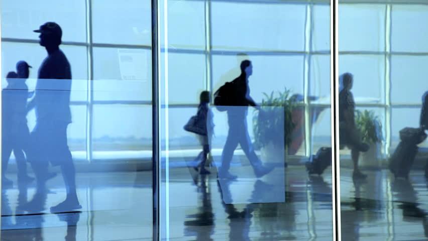 people walking in air terminal