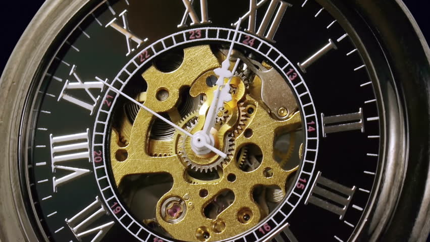 Pocketwatch Timelapse Zoom Out (HD). Timelapse 7 minutes of a pocketwatch striking 12 with central gears exposed and slight zoom out. Panasonic GH2 Stills mode with intervalometer.