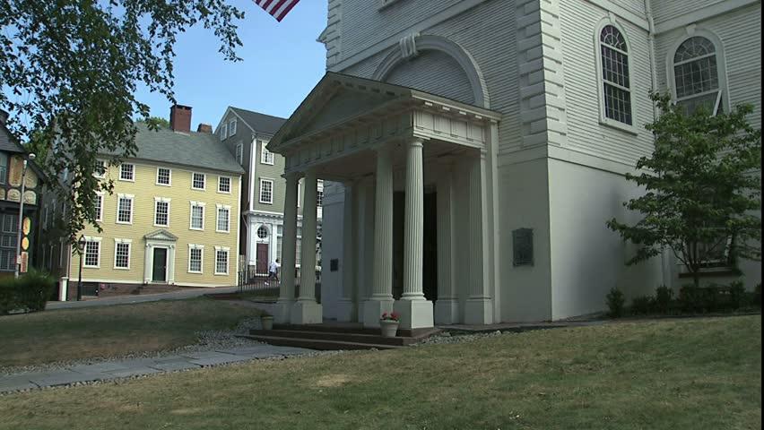 historic church, Providence, RI - HD stock footage clip