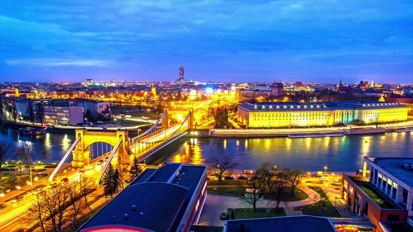 Time Lapse -  Wroclaw, city skyline, provincial office, Breslau, architecture and buildings Wroclove. | Shutterstock HD Video #22901587