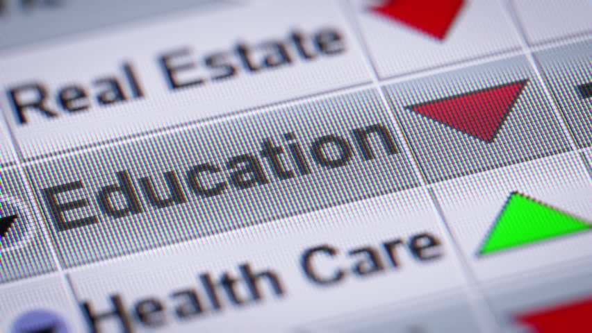 Index of Education industry on the screen. Down. Looping. | Shutterstock HD Video #23044111