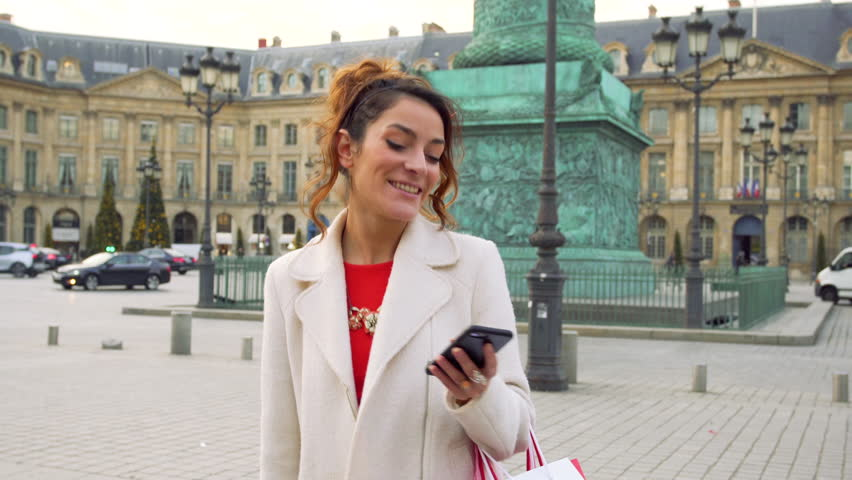 Paris, Woman shopping in Paris on place Vendome, 4K, UHD (3840X2160) | Shutterstock HD Video #23074486