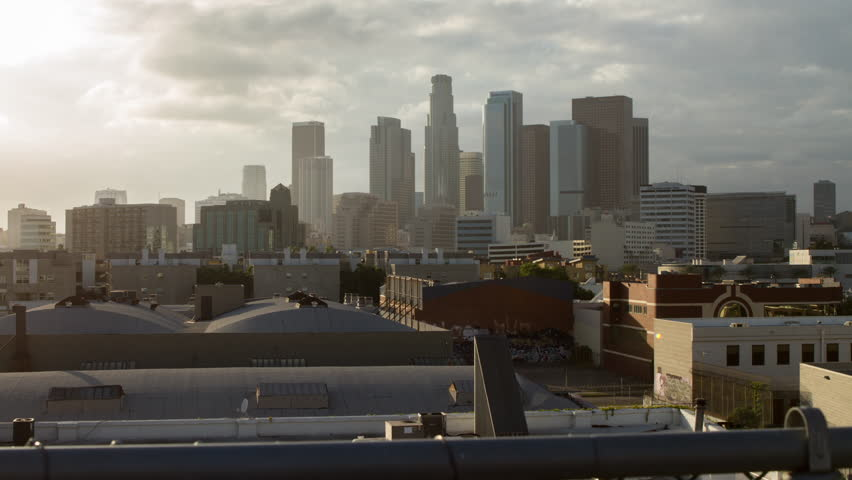 Time-lapse dolly of downtown Los Angeles from a roof top | Shutterstock HD Video #23080777