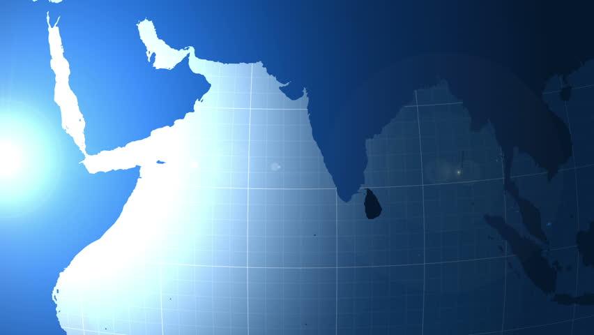 Sri Lanka. Map. Zooming into Sri Lanka on the globe. | Shutterstock HD Video #23124274
