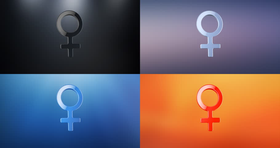 Animated Woman Symbol 3d Icon Loop Modules for edit with alpha matte   Shutterstock HD Video #23148088