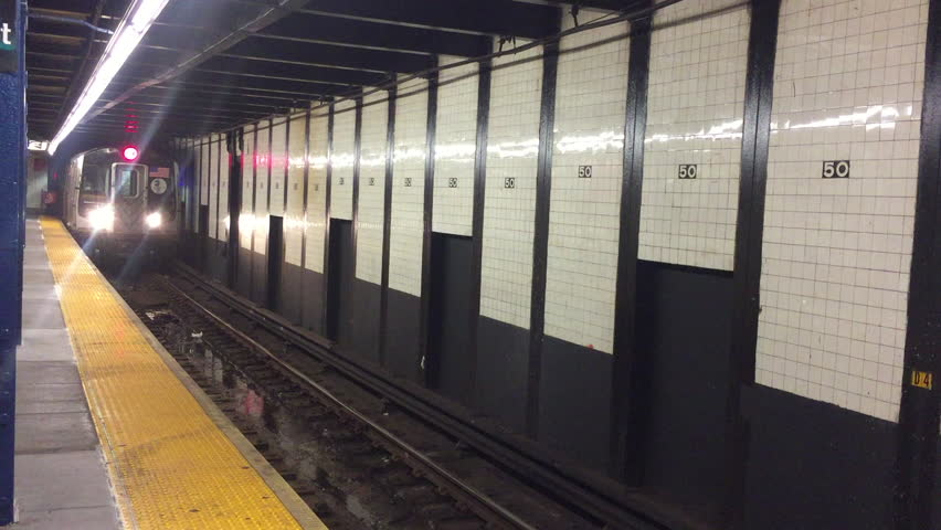 New York Subway E Train Approaching 50 St Station   Shutterstock HD Video #23157583