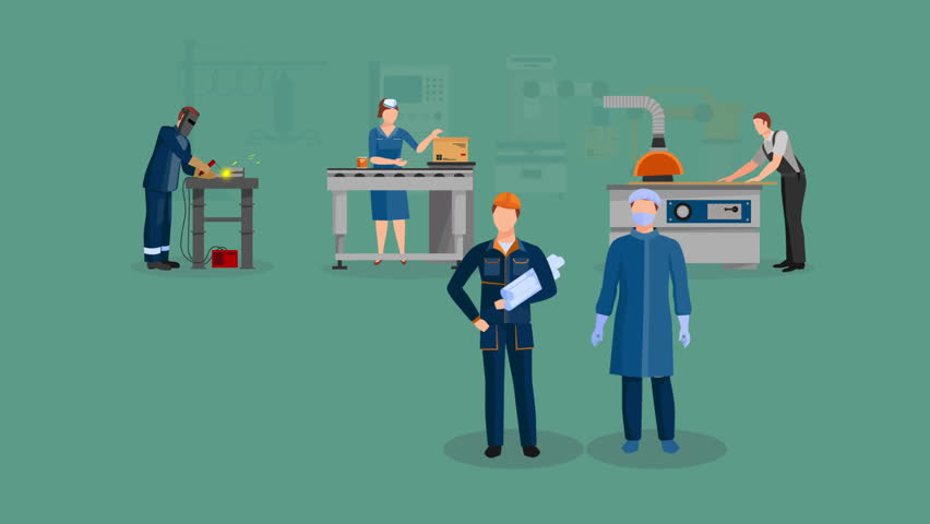 Factory workers video animation footage | Shutterstock HD Video #23174827