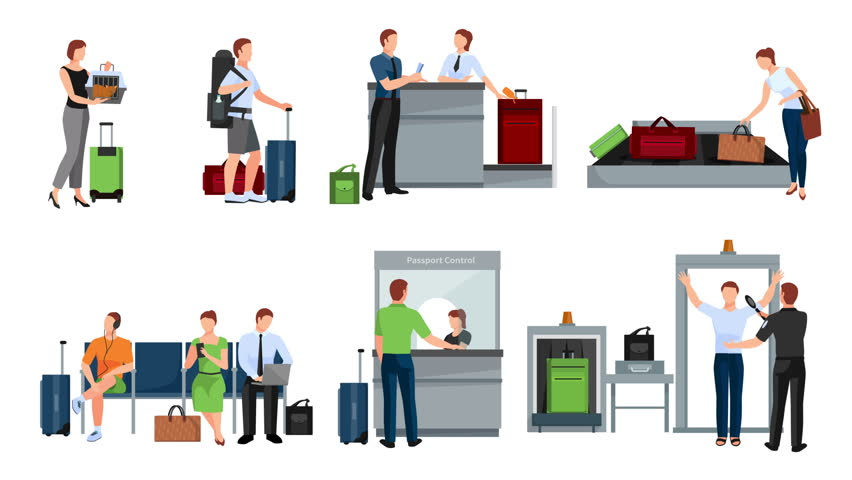 People in airport video animation footage | Shutterstock HD Video #23174854