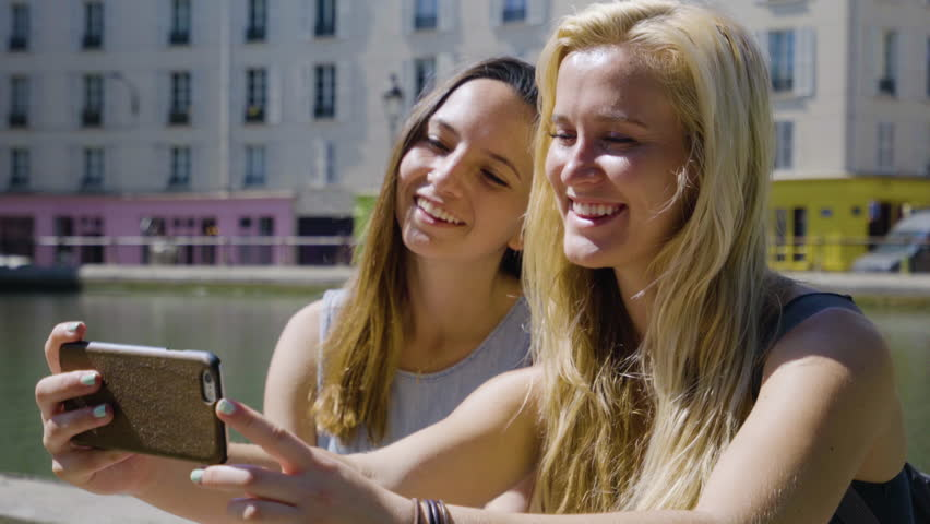 Friends Take Silly Selfies Together On The River Seine, In Paris, France | Shutterstock HD Video #23180884