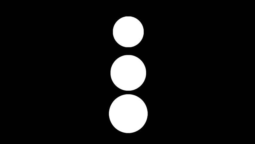 A loader - spinner animation: vertical spheres growing and shrinking, looking like a snowman. Use: fake mock video buffering, simulate Android / iPhone apps, YouTube buffering / loading.  | Shutterstock HD Video #23188651