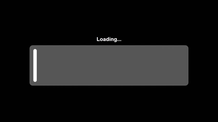 A loader animation: a growing horizontal bar with a small text over it. Use: fake mock video buffering, simulate Android / iPhone apps, YouTube buffering / loading.  | Shutterstock HD Video #23189137