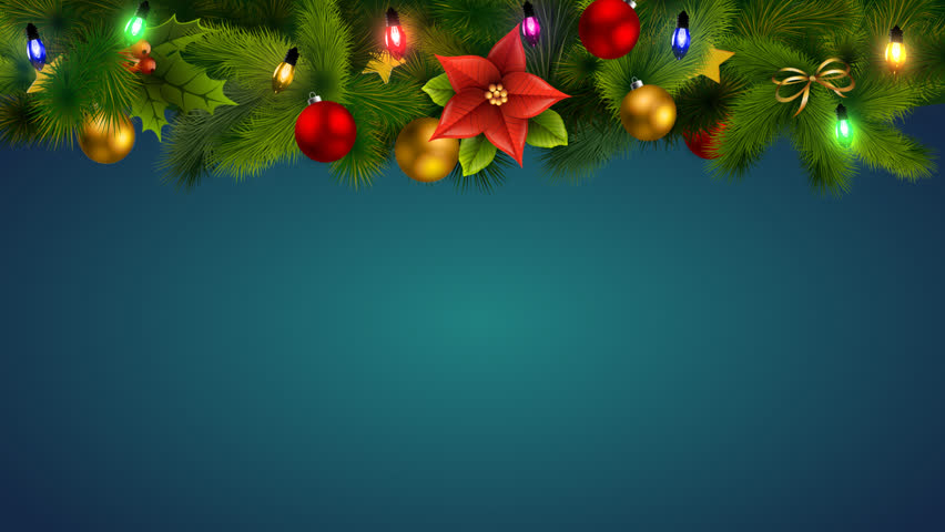 New Year, Christmas with lights and snow background for a logo with alpha | Shutterstock HD Video #23210710