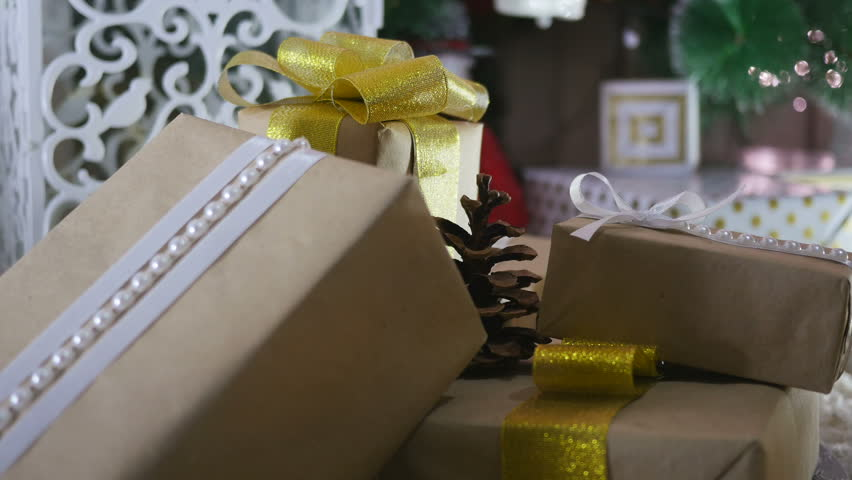 Presents under the Christmas tree on floor | Shutterstock HD Video #23211367
