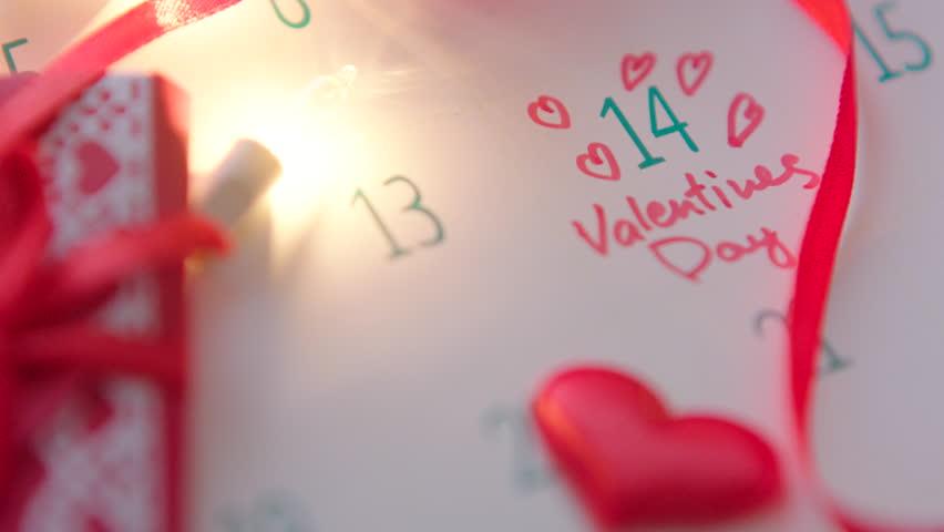 Valentine's day in calendar | Shutterstock HD Video #23213014