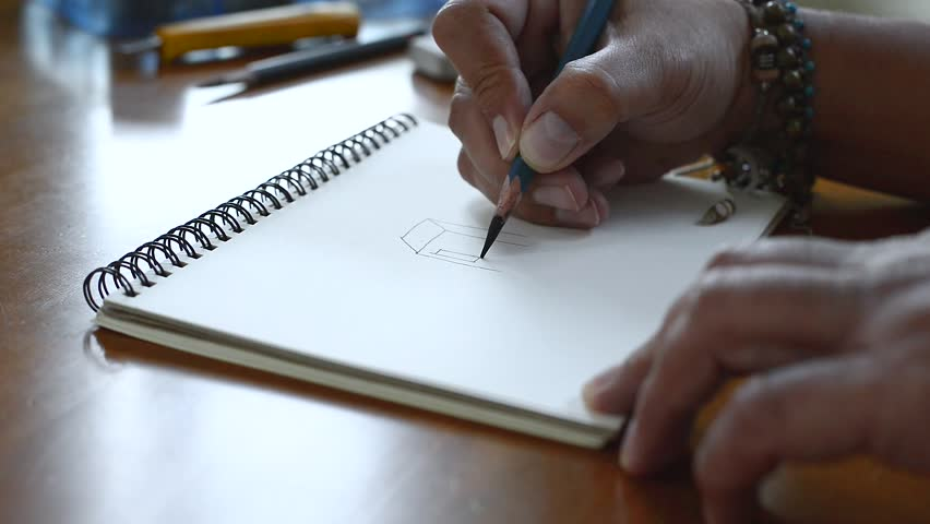 Drawing on the paper and deleted with an eraser.,draws a pencil sketch of a closeup | Shutterstock HD Video #23213140
