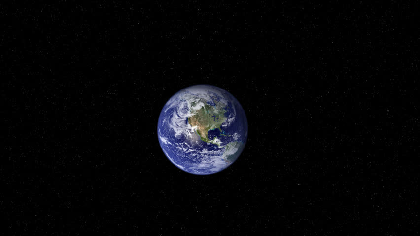 3D animation of an extreme camera zoom into Earth beginning from space. 720P - HD stock video clip