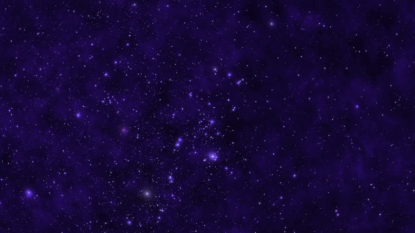 Stars fly past the viewer against a backdrop of blue clouds and gas in space. HD | Shutterstock HD Video #23251615