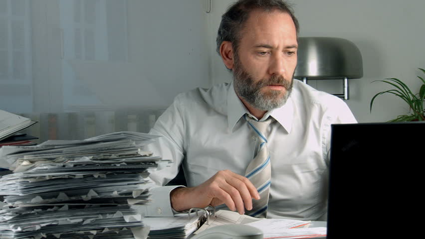 Stressed Businessman in office