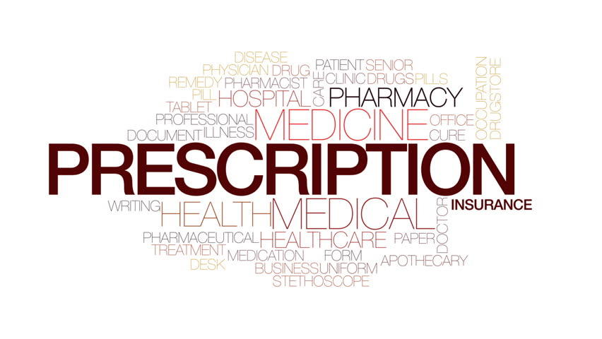 Prescription animated word cloud, text design animation. Kinetic typography. | Shutterstock HD Video #23516206