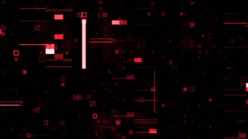 Abstract particle background. A lot of small detail and elements. Crosses, squares and glitch elements. Loopable sequence. | Shutterstock HD Video #23713441