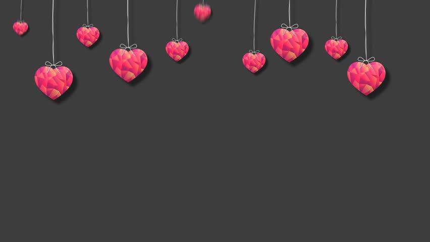 Valentine Day Heart Background 7 + Alpha Channel   Shutterstock HD Video #23791003